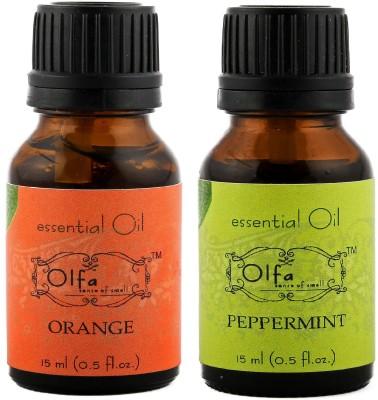 Olfa Orange Essential Oil & Peppermint Essential Oil Combo (Pack Of 2) 15ml+15ml