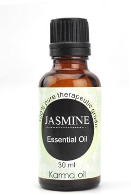 Karmakara 100% pure Therapeutic Grade undiluted essential oils in 30 ml Bottles-jasmine oil(30 ml)