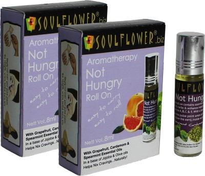 Soulflower Aromatherapy Not Hungry Roll On - Pack of 2