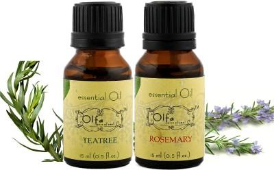 Olfa Tea Tree & Rosemary Essential Oil combo pack (15ml+15ml)