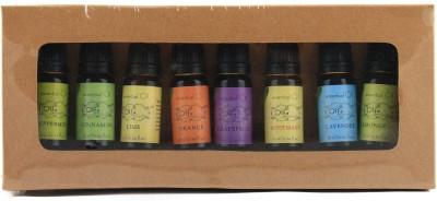 Olfa Essential Oil Gift Set for Starters pack of 8 oils - Peppermint,Cinnamon,Lime,Orange,Grapefruit,Rosemary,Lavender,Lemongrass (10 ml each)