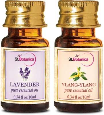 StBotanica Lavender + Ylang-Ylang Pure Essential Oil (10ml Each)