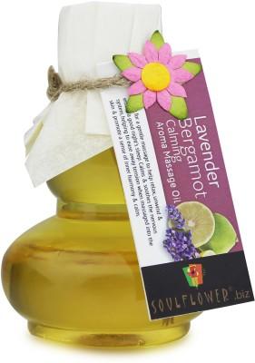 Soulflower Lavender Bergamot Calming Aroma Massage Oil