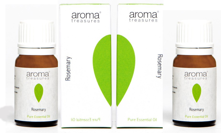 Aroma Treasures Rosemary Essential Oil 10ml (Pack Of 2)(20 ml)