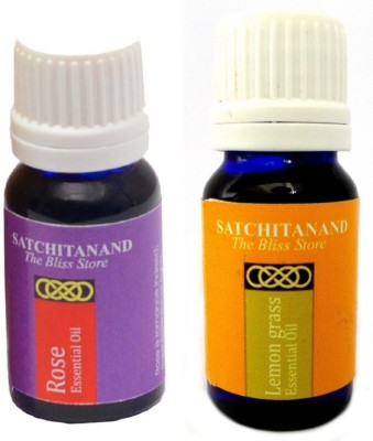 Satchitanand Rose Lemongrass Essential Oil - Twin Pack