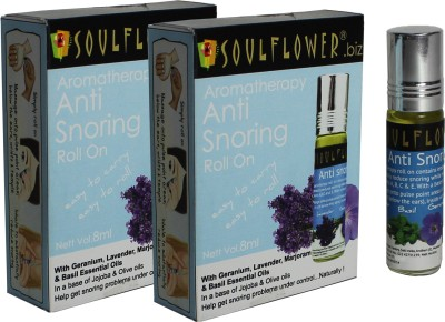 Soulflower Aromatherapy Anti Snoring Roll On - Pack of 2