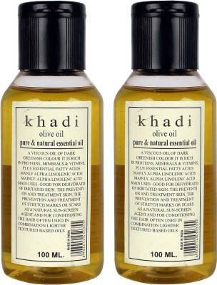 Khadi Herbal Olive Oil - Pure & Natural Essential Oil Pack of 2
