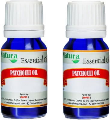 Natura Patchouli (Pogostemon Cablin) Natural Essential Oil pack of 2