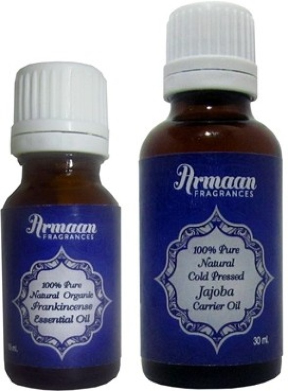 Armaan jojoba carrier oil and Frankincense essential oil for anti aging skin(45 ml)