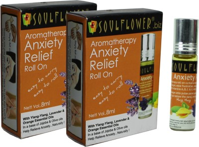 Soulflower Aromatherapy Anxiety Relief Roll On - Pack of 2