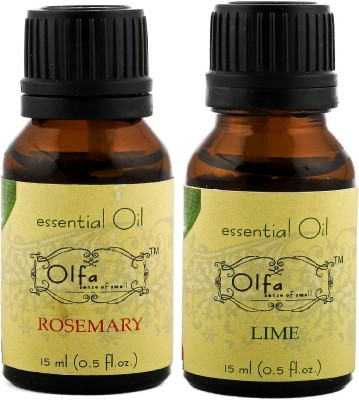 Olfa Rosemary Essential Oil & Lime Essential Oil Combo (Pack Of 2) 15ml+15ml
