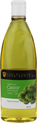 Soulflower Coldpressed Castor Pure Natural Carrier Oil(200 ml)