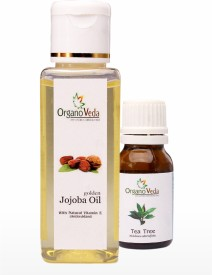 Organo Veda Jojoba and Tea Tree oil combo(75 ml)