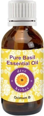 DèVe Herbes Pure Basil Essential Oil - Ocimum Basilicum - 30ml