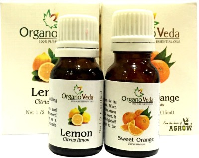 Organo Veda Natural Citrus Combo: Orange + Lemon