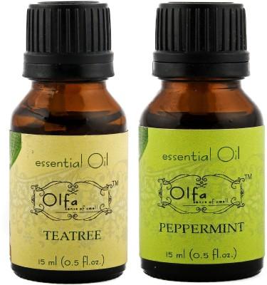 Olfa Tea Tree Essential Oil & Peppermint Essential Oil Combo (Pack Of 2) 15ml+15ml