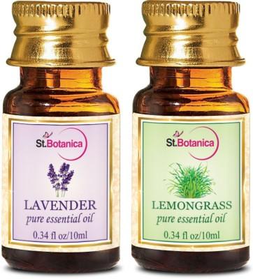 StBotanica Lavender + Lemongrass Pure Essential Oil (10ml Each)