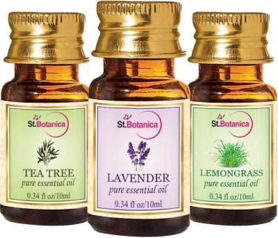 StBotanica Lavender + Lemongrass + Tea Tree Pure Essential Oil