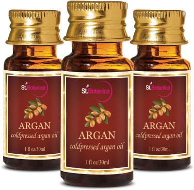 StBotanica Argan Pure Aroma Cold Pressed Carrier Oil, 30ml - 3 Bottles