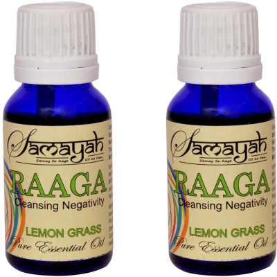 Samayah Hand Made Aroma Oils Raaga (Lemon Grass) Set of 2