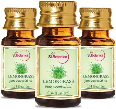 StBotanica Lemon Grass Pure Aroma Essential Oil, 10ml - 3 Bottles
