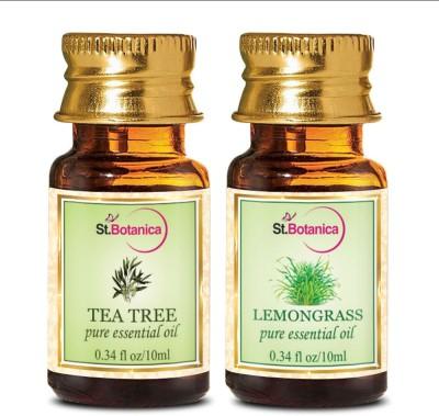 StBotanica Tea Tree Oil + Lemongrass Pure Essential Oil (10ml Each)