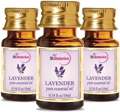 StBotanica Lavender Pure Aroma Essential Oil, 10ml - 3 Bottles