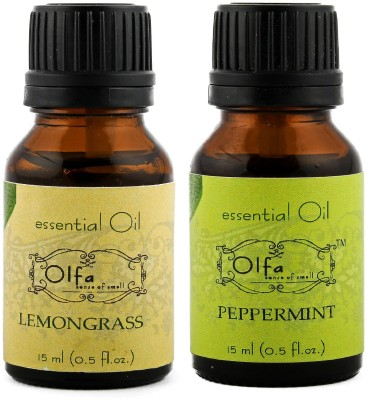 Olfa Lemongrass Essential Oil & Peppermint Essential Oil Combo(Pack Of 2) 15ml+15ml