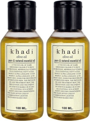 Khadi Herbal Olive Oil - Pure & Natural Essential Oil ( Twin pack )