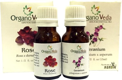 Organo Veda Combo of Natural Rose & Geranium