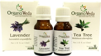 Organo Veda Combo of Natural Tea Tree & lavender