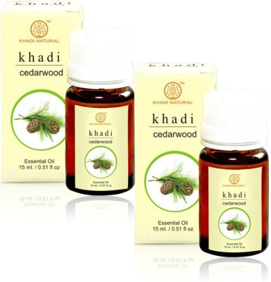 Khadi Natural Natural Cedarwood Essential Oil - 15ml (Set of 2)