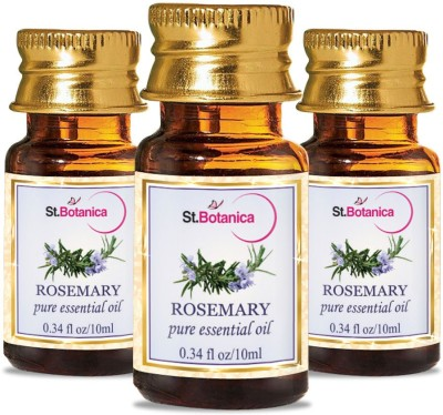 StBotanica Rosemary Pure Aroma Essential Oil, 10ml - 3 Bottles