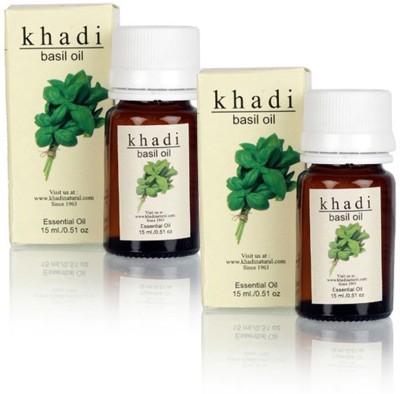 Khadi Natural Basil - Pure Essential Oil - 15ml (Set of 2)