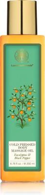 Forest Essentials Cold Pressed Body Massage Oil Eucalyptus & Black Pepper(200 ml)