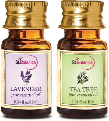 StBotanica Lavender + Tea Tree Pure Essential Oil (10ml Each)