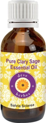 DèVe Herbes Pure Clary Sage Essential Oil (10ml)- Salvia Sclarea
