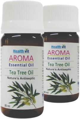 Healthvit Aroma Tea Tree Essential Oil Powerful Antiseptic(Pack Of 2)