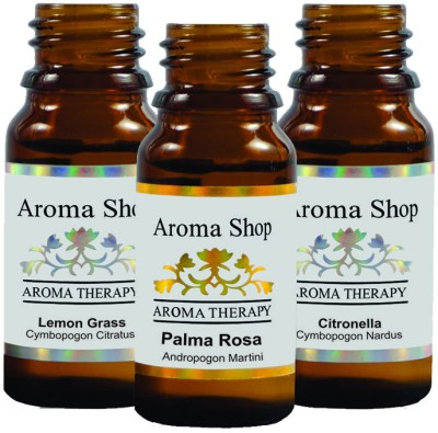 Rk's Aroma Lemon Grass, Palma Rosa & Citronella Essential Oil (pack of 3)