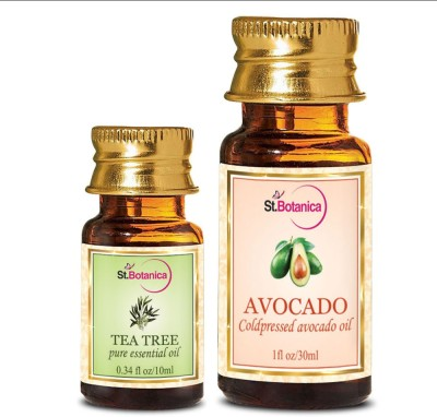 StBotanica Tea Tree Essential Oil (10ml) + Avocado Carrier Oil (30ml)