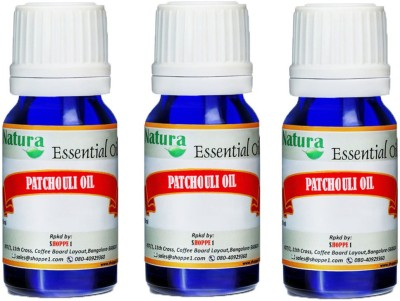 Natura Patchouli (Pogostemon Cablin) Natural Essential Oil pack of 3