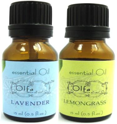 Olfa Lavender and Lemongrass Essential Oil Combo Pack