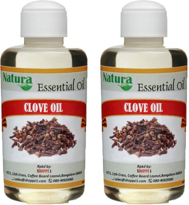 Natura Clove (Eugenia Caryophyllata) Natural Essential Oil pack of 2