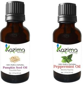 Kazima Combo of Pumpkin Seed & Peppermint Oil(30 ml)
