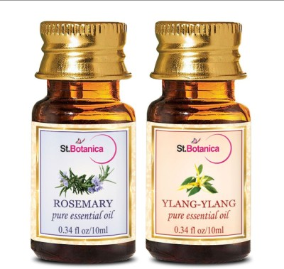 StBotanica Rosemary + Ylang-Ylang Pure Essential Oil (10ml Each)