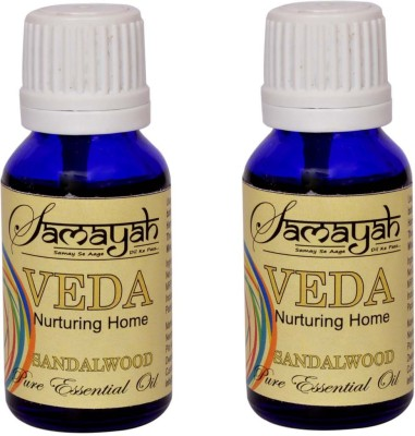 Samayah Hand Made Aroma Oils Veda (Sandalwood) Set of 2