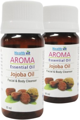 Healthvit Aroma Jojoba Essential Oil Facial & Body Cleanser(Pack of 2)