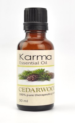 Karmakara 100% pure Therapeutic Grade undiluted essential oils in 30 ml Bottles-cedarwood oil