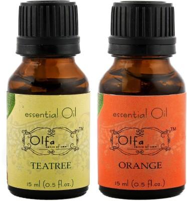 Olfa Tea Tree Essential Oil & Orange Essential Oil Combo (Pack Of 2) 15ml+15ml