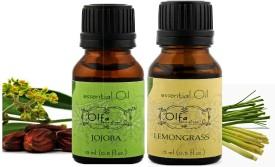 Olfa Jojoba Essential Oil & Lemongrass Essential Oil Combo(Pack Of 2) 15ml+15ml